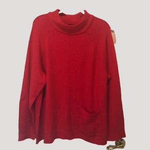 NWT Red Halogen sweater with pocket. 2X